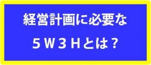 経営計画_5w3h